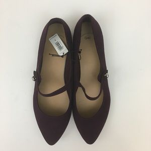 GAP Shoes - NWT GAP Purple Faux Suede Pointy Toe Flats sz. 9